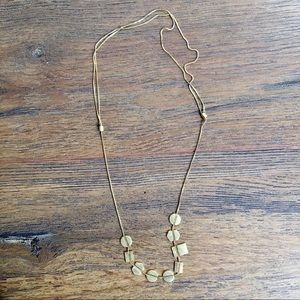 Madewell Holding Pattern Necklace in Vintage Gold